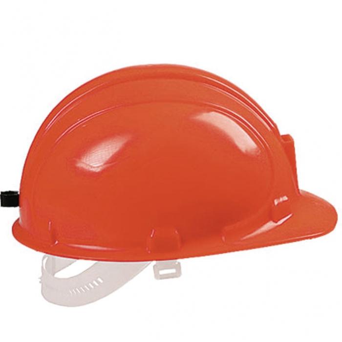 На каске предусмотрено крепление для светильника от шахтерского фонаря. .  Цвет: оранжевый, белый. .